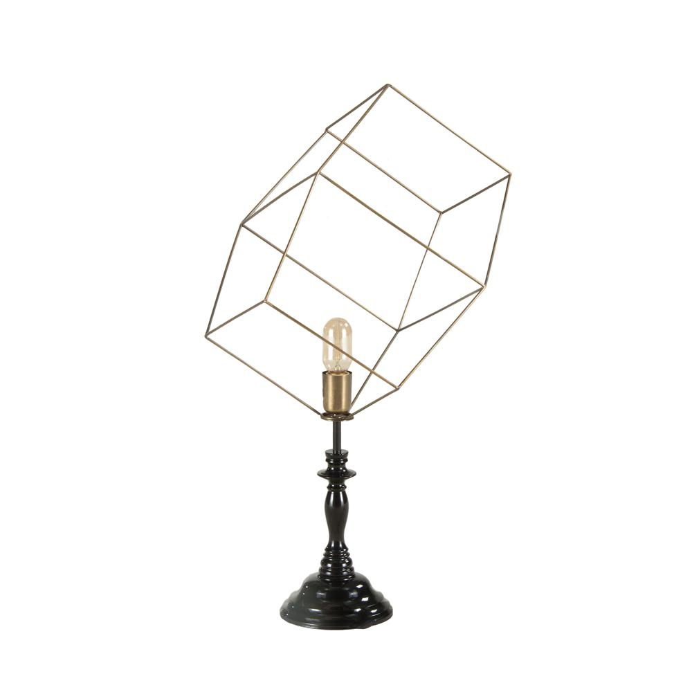 Nikola 3D Cube Vintage Table Lamp