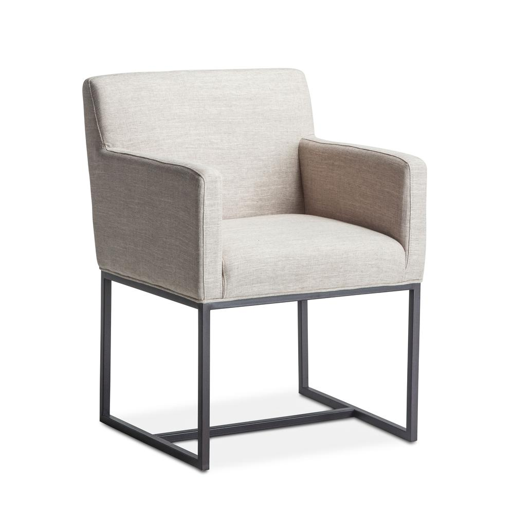 Rebel Off-White Linen Armchair. Picture 8