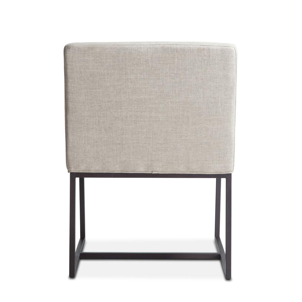 Rebel Off-White Linen Armchair. Picture 9