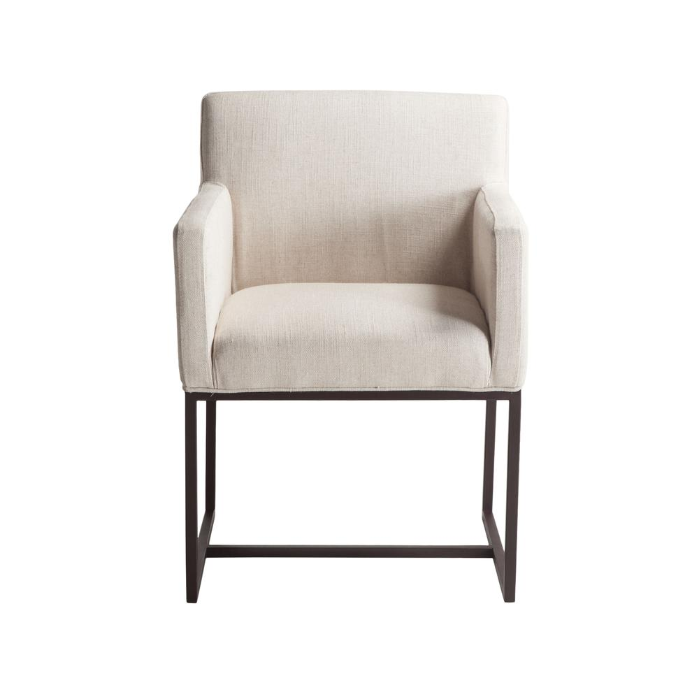 Rebel Off-White Linen Armchair. Picture 10