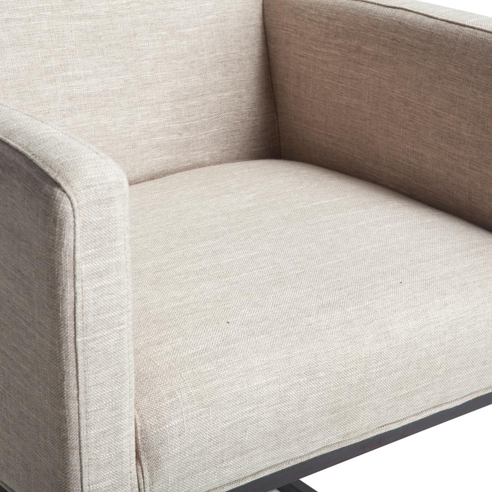 Rebel Off-White Linen Armchair. Picture 11