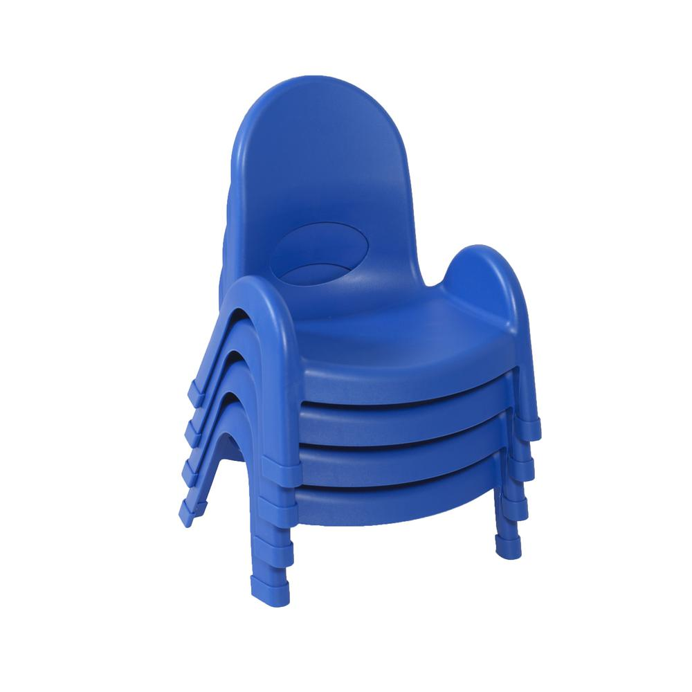 "Value Stack™ 5"" Child Chair - 4 Pack - Royal Blue. Picture 1"