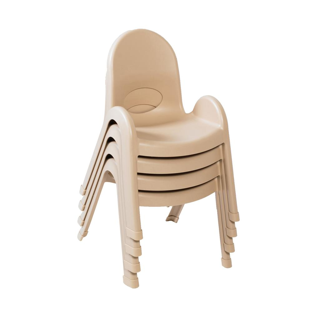 """Value Stack™ 11"""" Child Chair - Natural Tan. Picture 3"""
