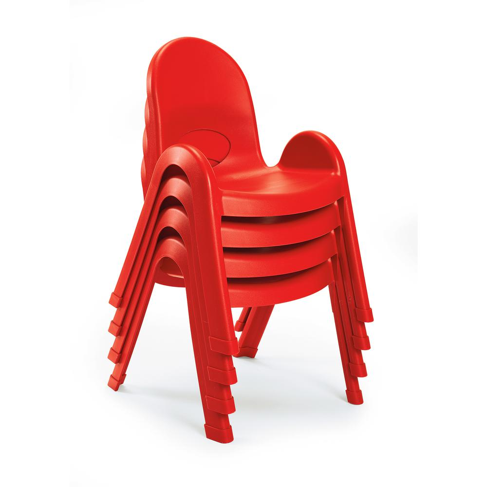 """Value Stack™ 11"""" Child Chair - Candy Apple Red. Picture 3"""