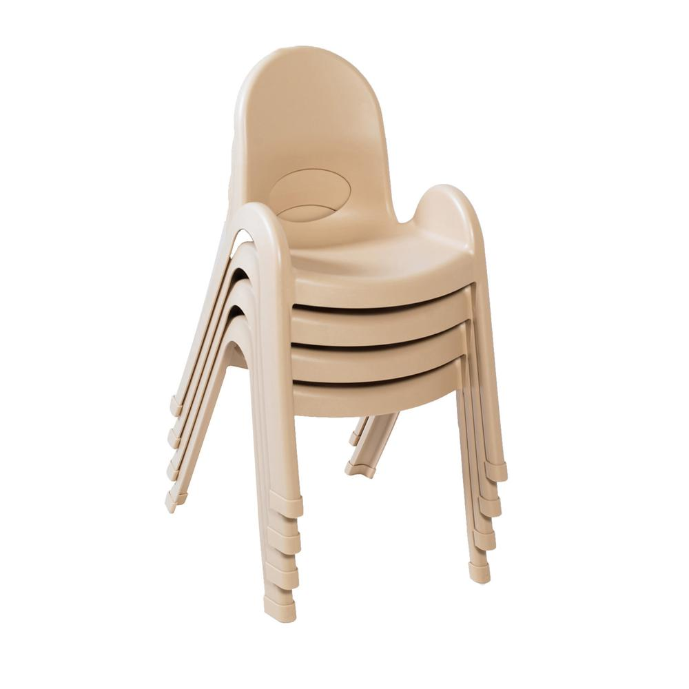 """Value Stack™ 13"""" Child Chair - 4 Pack - Natural Tan. Picture 1"""
