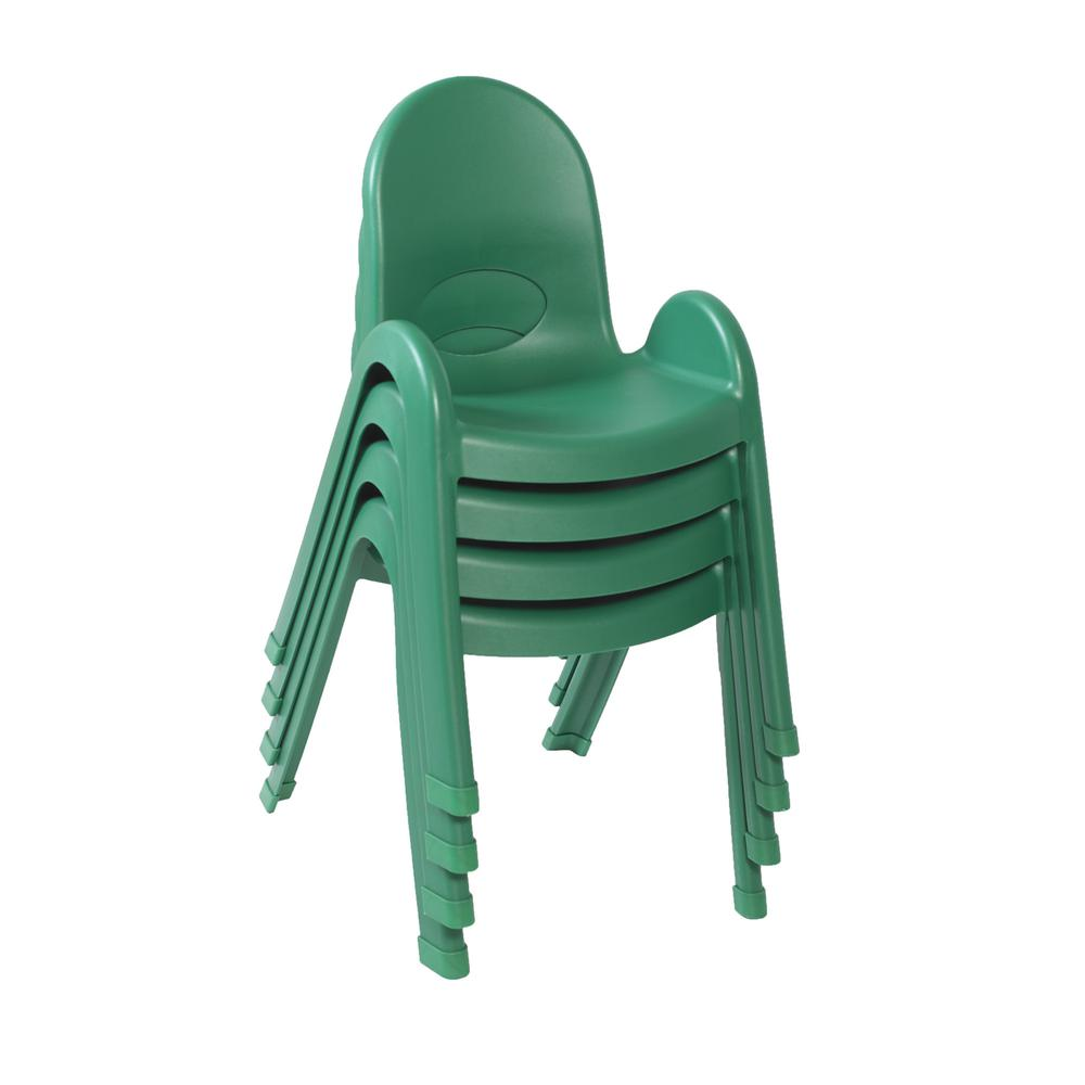 """Value Stack™ 13"""" Child Chair - Shamrock Green. Picture 3"""
