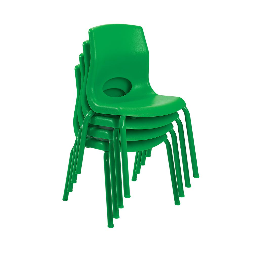 "MyPosture™ 12"" Child Chair - 4Pack - Green. Picture 1"