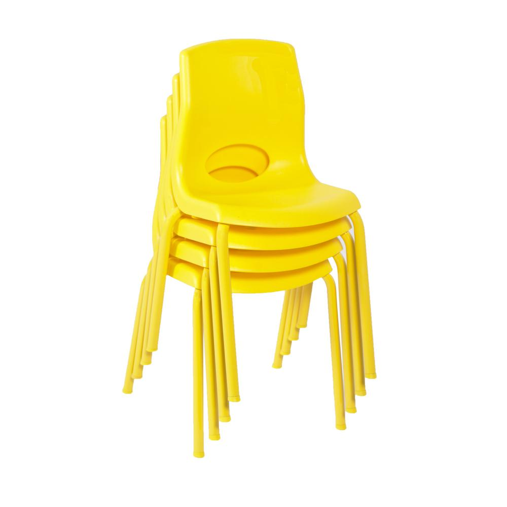 "MyPosture™ 14"" Chair 4 Pack - Yellow. Picture 1"