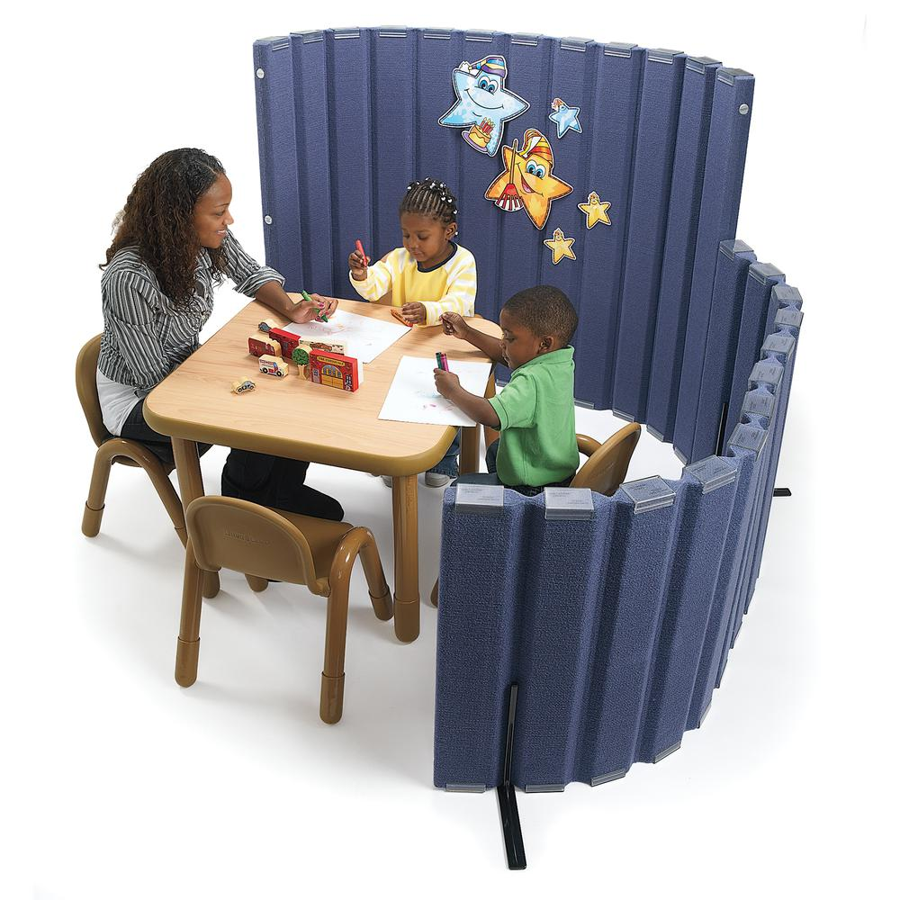 """Quiet Divider® with Sound Sponge®  48"""" x 6' Wall - Slate Blue. Picture 1"""