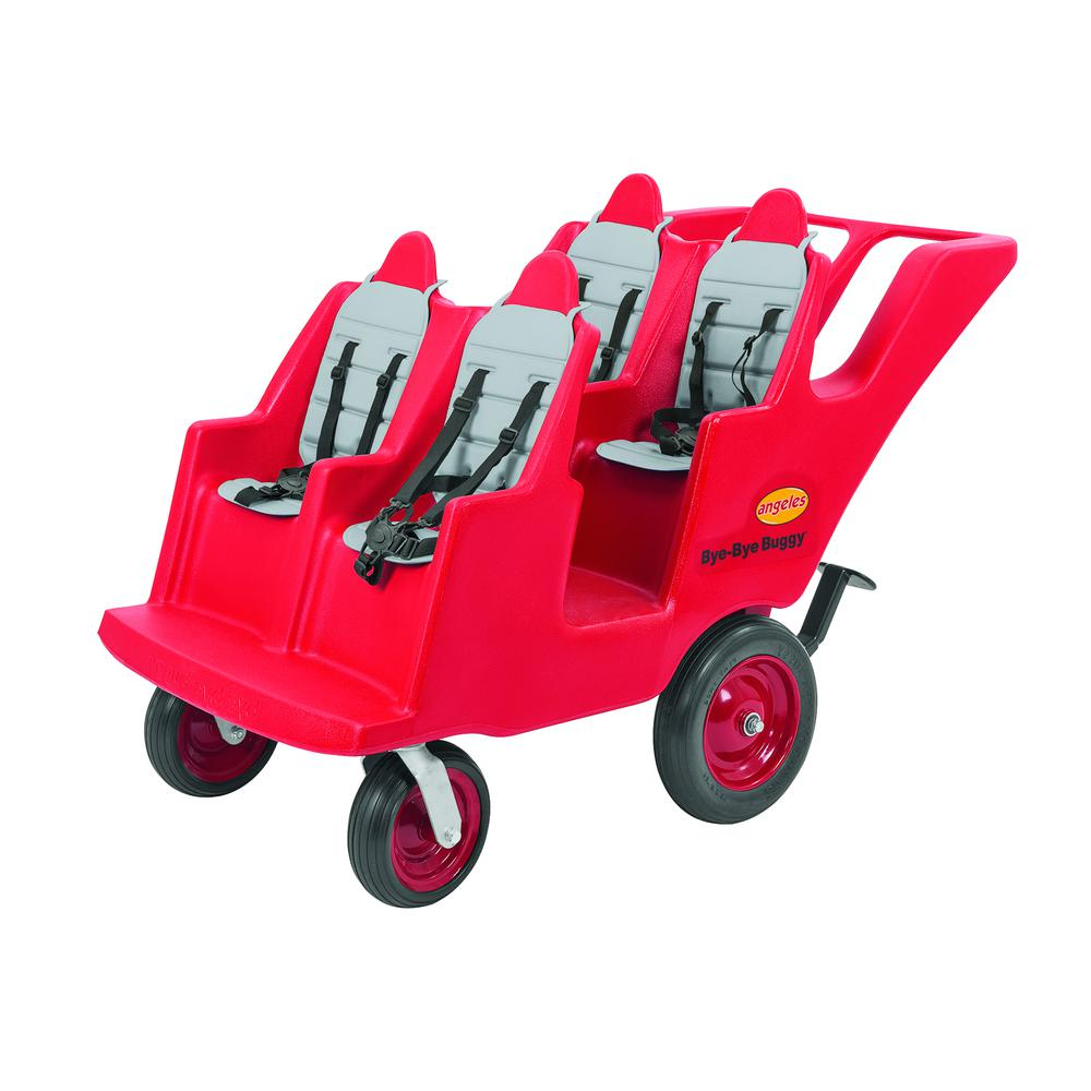 """4 Passenger Never Flat """"Fat Tire"""" Red/Grey Bye Bye Buggy®. Picture 4"""