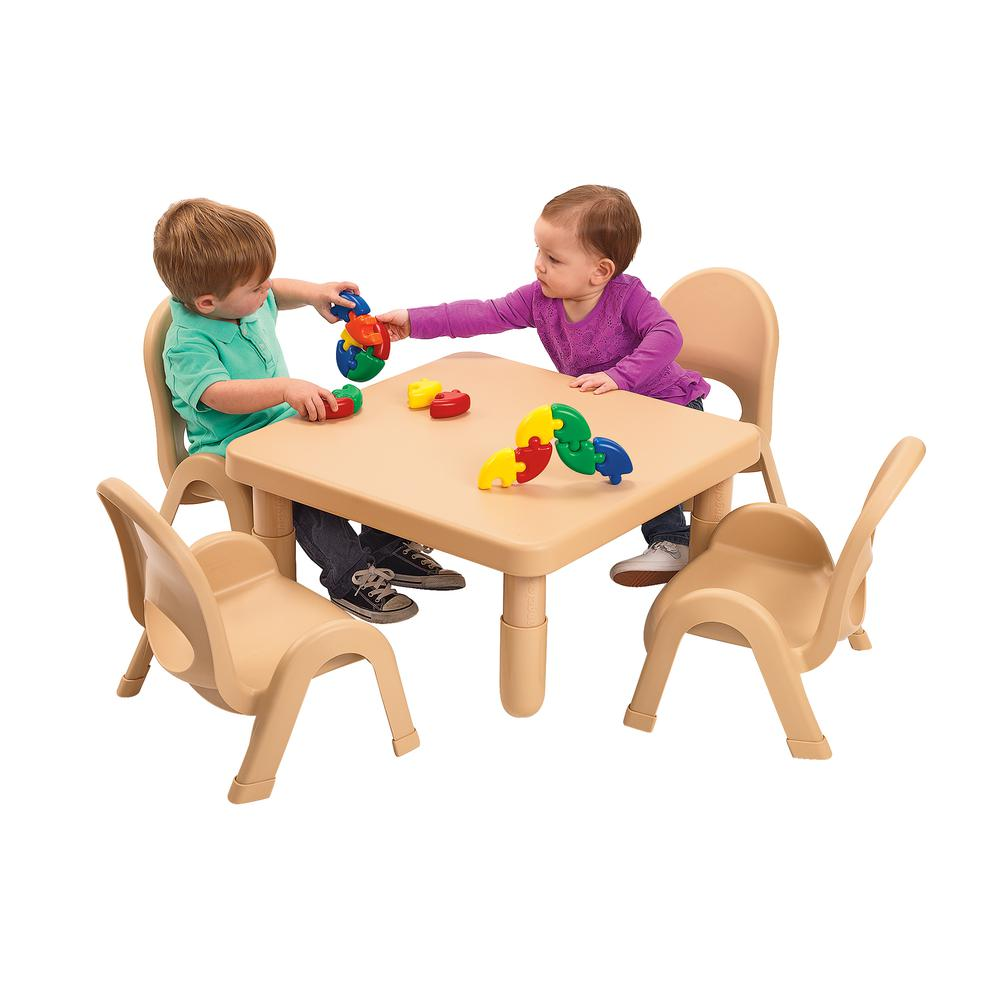 Toddler MyValue™ Set 4 Square - Natural Tan. Picture 1
