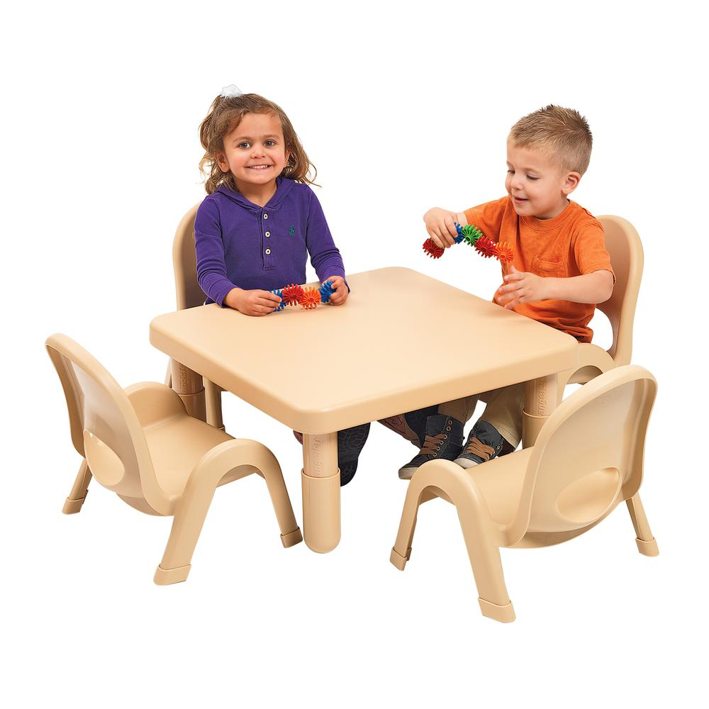 Toddler MyValue™ Set 4 Square - Natural Tan. Picture 2