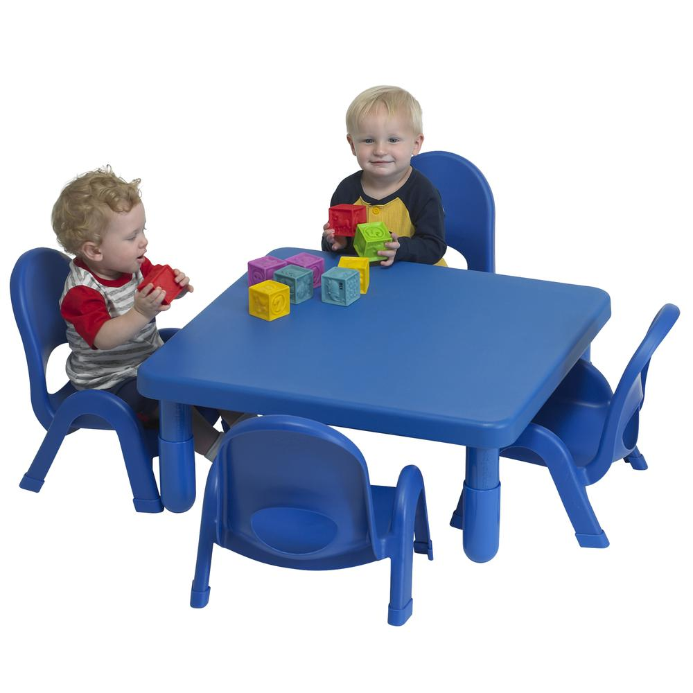 Toddler MyValue™ Set 4 Square - Royal Blue. Picture 1