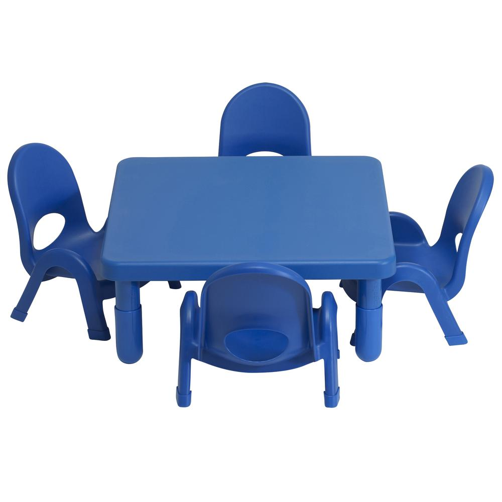 Toddler MyValue™ Set 4 Square - Royal Blue. Picture 4