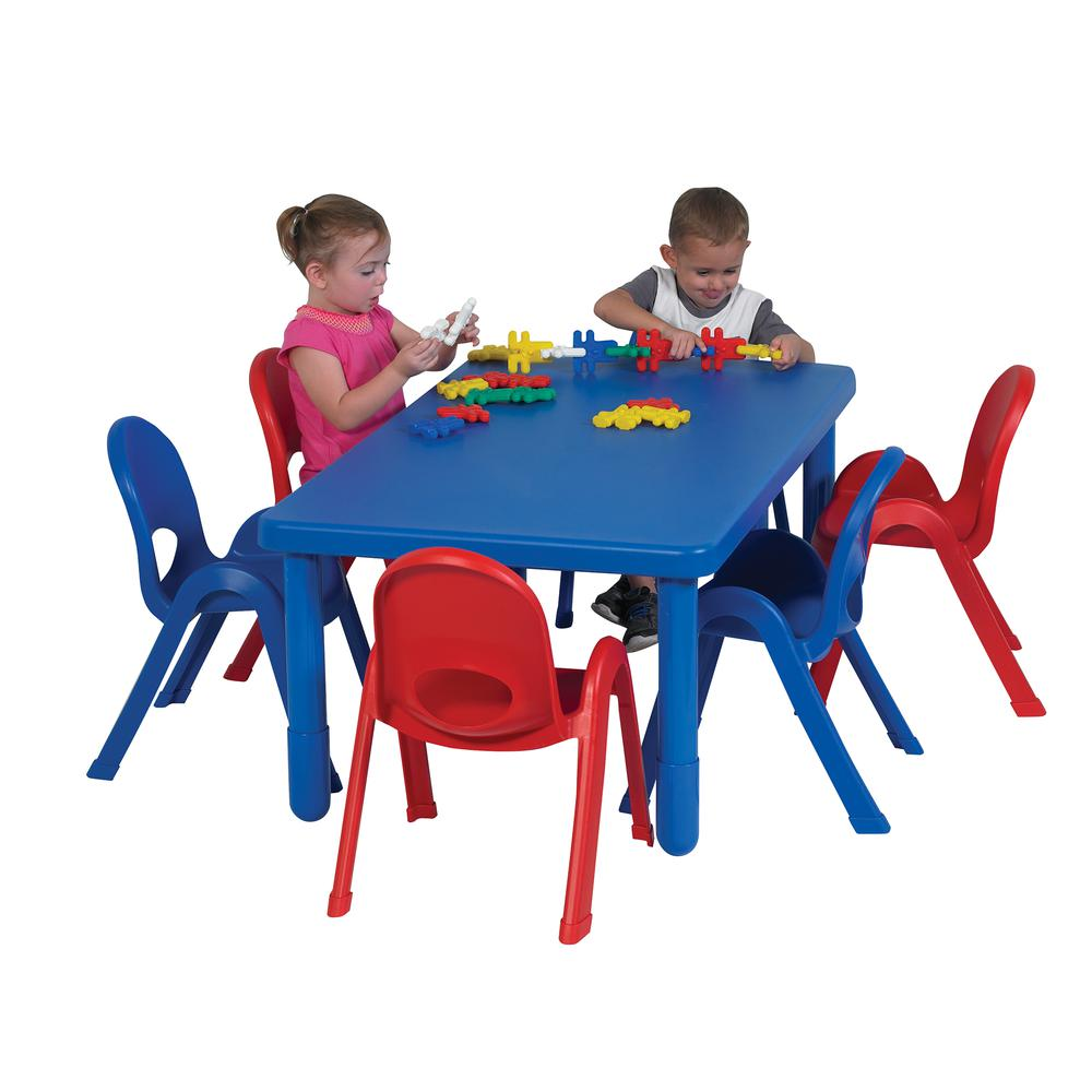 Preschool MyValue™ Set 6 Rectangle - Royal Blue. Picture 1