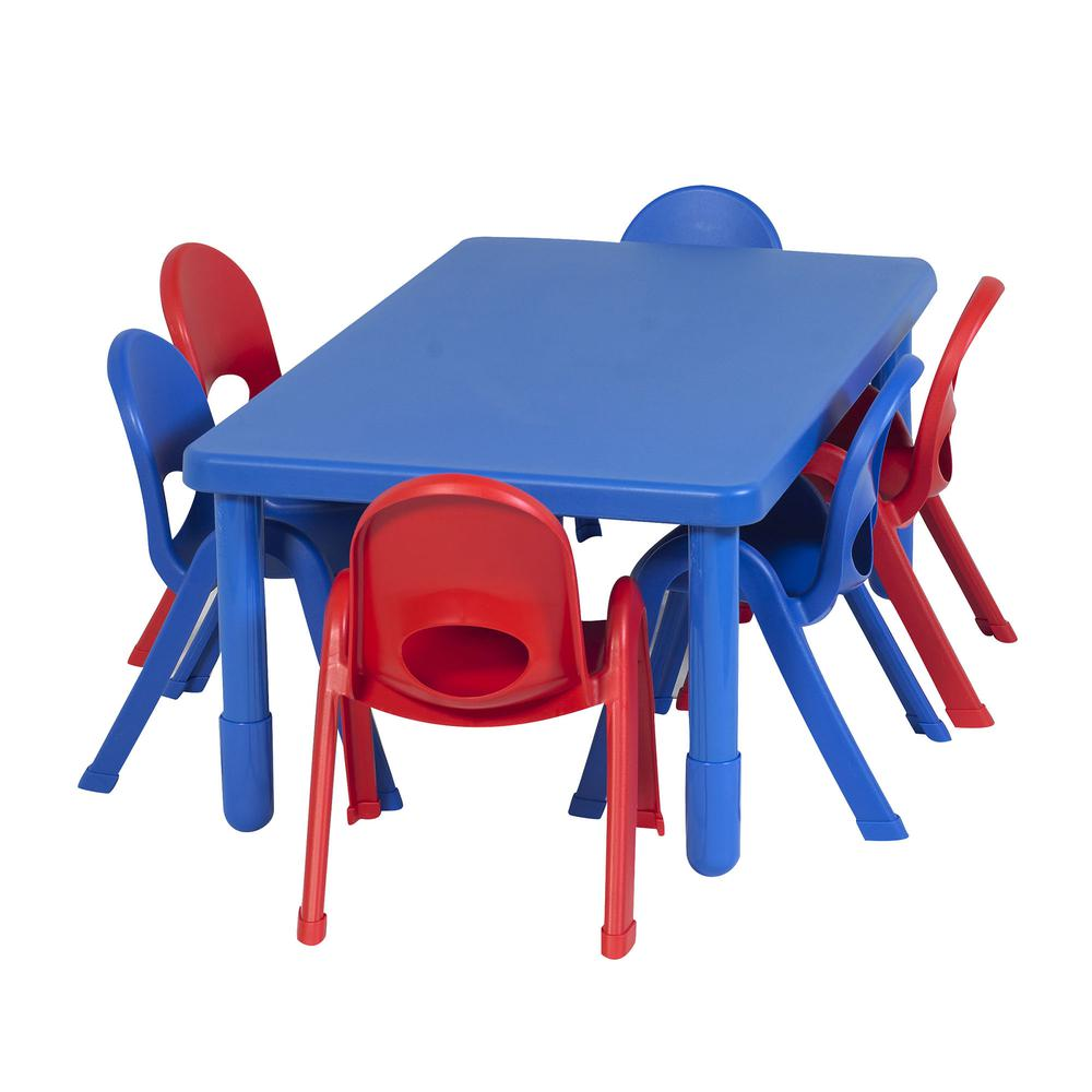 Preschool MyValue™ Set 6 Rectangle - Royal Blue. Picture 2