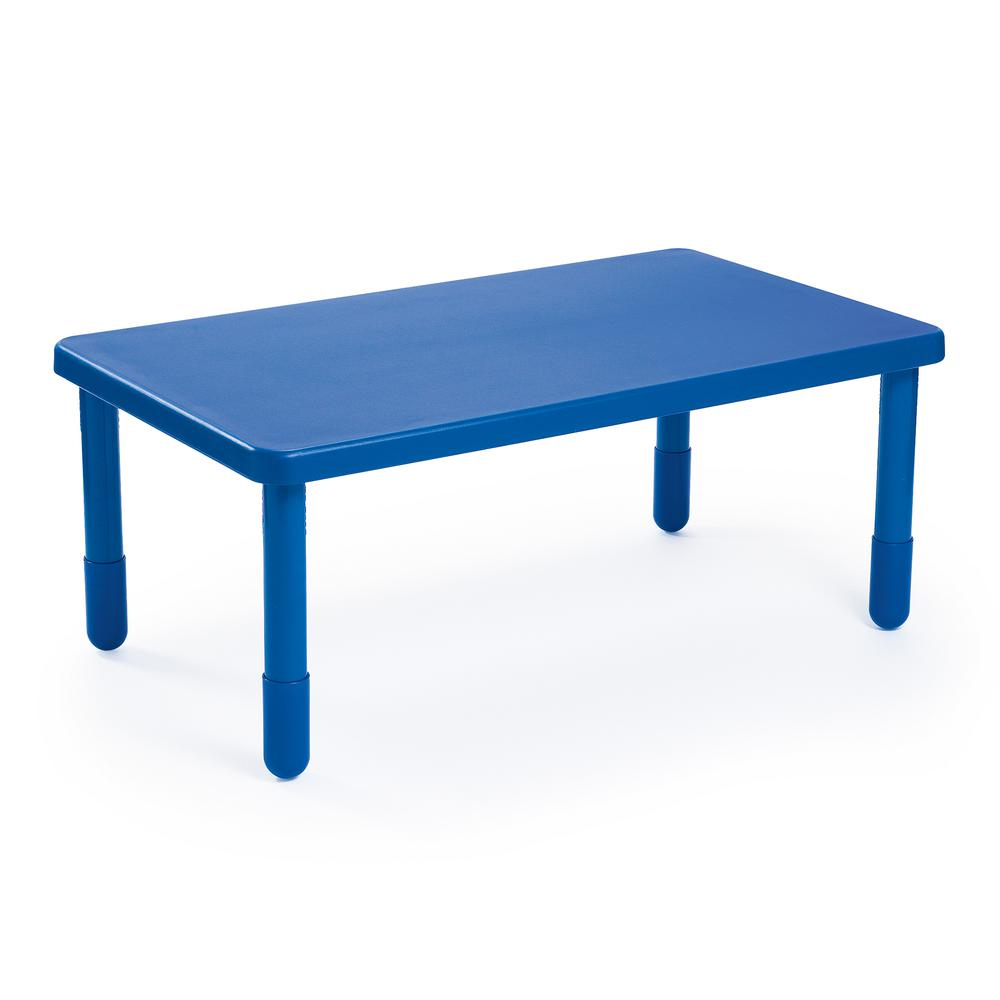 """Value Rectangle Table - Royal Blue with 20"""" Legs. Picture 1"""