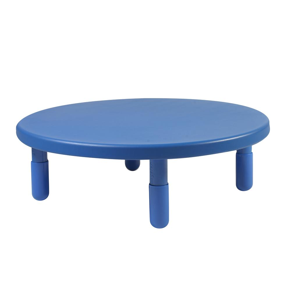 """Value 36"""" Diameter Round Table - Royal Blue with 12"""" Legs. Picture 1"""