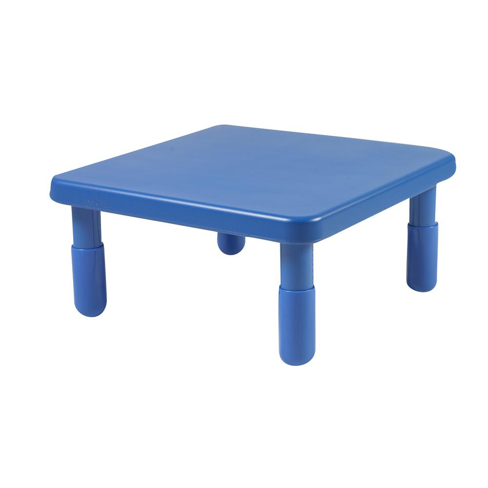 "Value 24"" Square Table - Royal Blue with 12"" Legs"