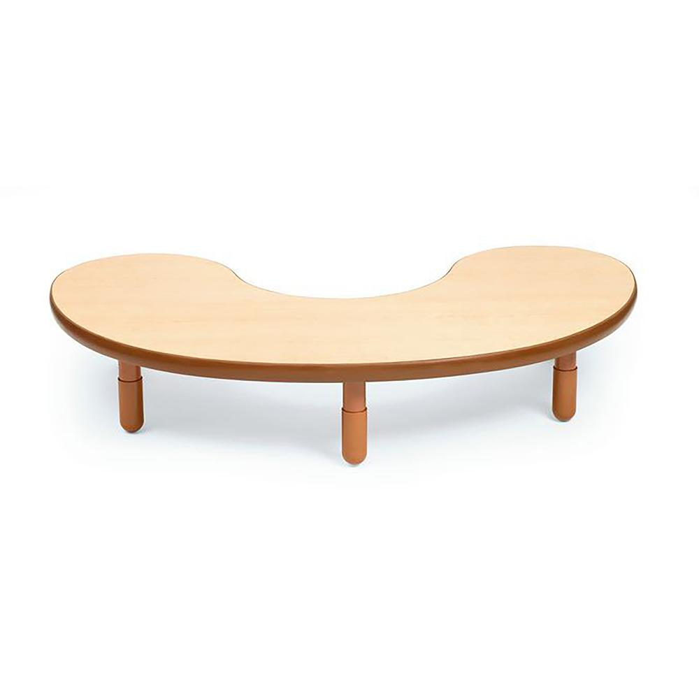 """BaseLine® Teacher/Kidney Table - Natural Wood with 12"""" Legs. Picture 1"""