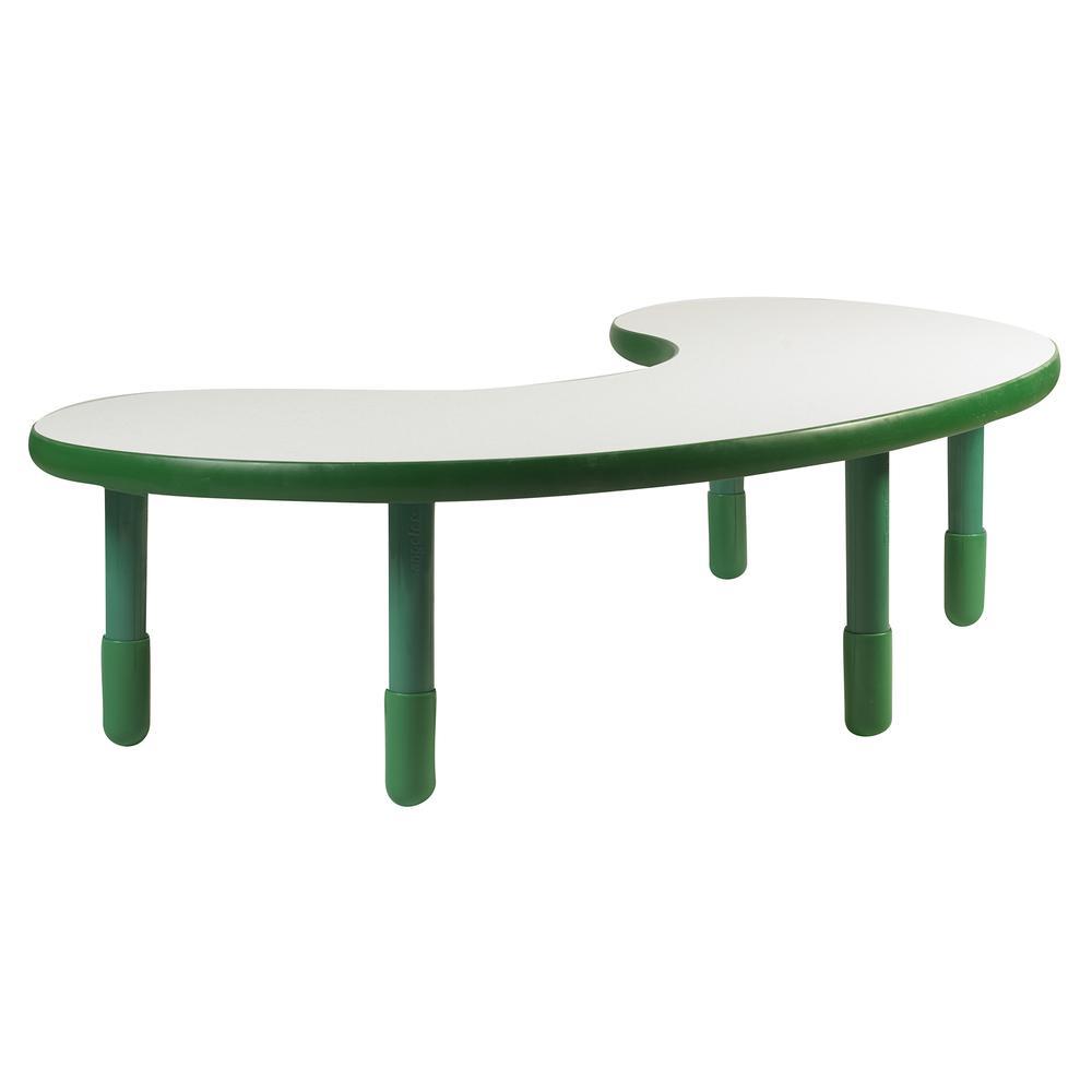 "BaseLine® Teacher/Kidney Table - Shamrock Green with 18"" Legs. Picture 1"
