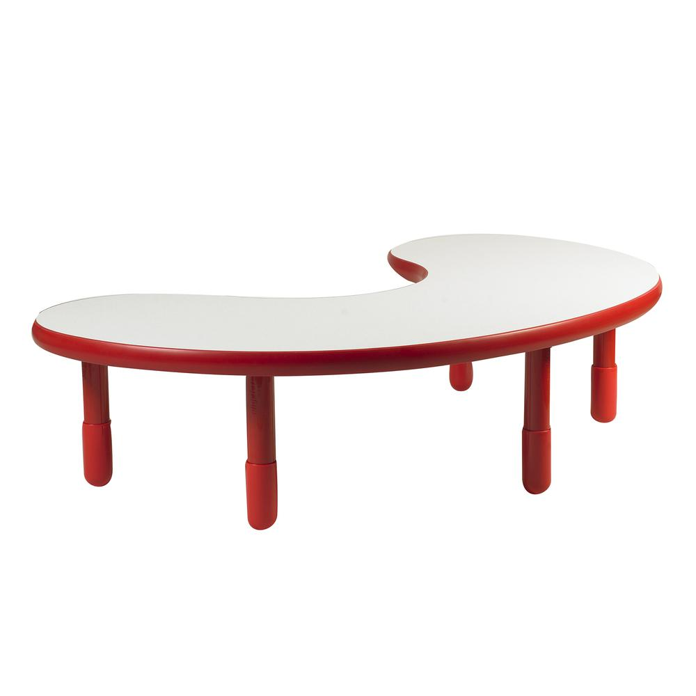 """BaseLine® Teacher/Kidney Table - Candy Apple Red with 16"""" Legs. Picture 1"""