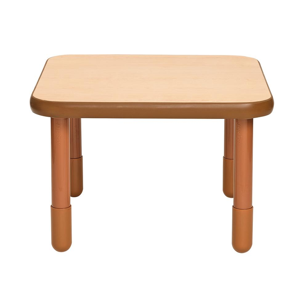 """BaseLine® 30"""" Square Table - Natural Wood with 20"""" Legs. Picture 1"""