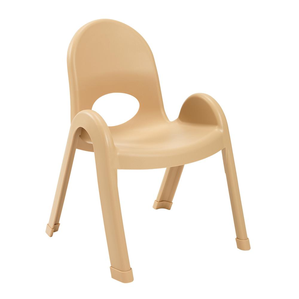 "Value Stack™ 7"" Child Chair - Natural Tan. Picture 1"