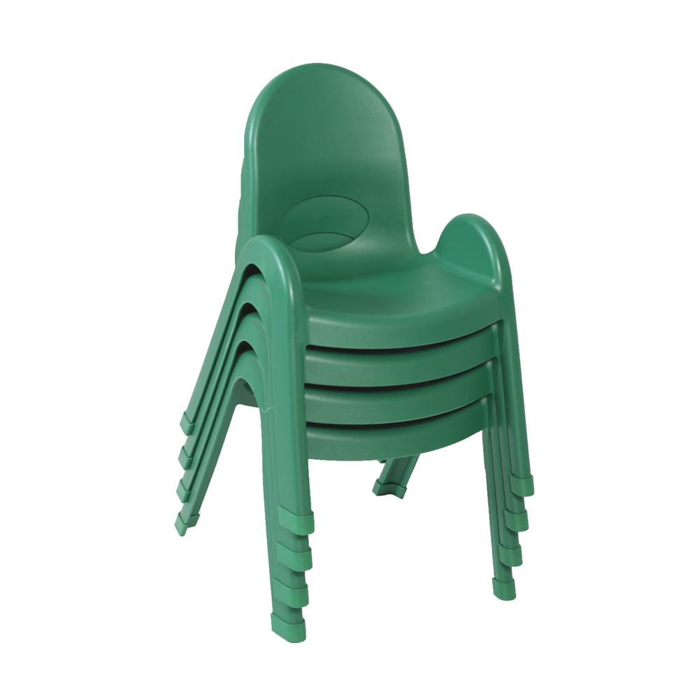 """Value Stack™ 11"""" Child Chair - 4 Pack - Shamrock Green. Picture 2"""
