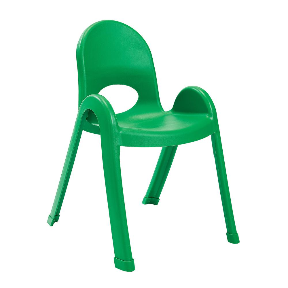 """Value Stack™ 13"""" Child Chair - Shamrock Green. Picture 1"""
