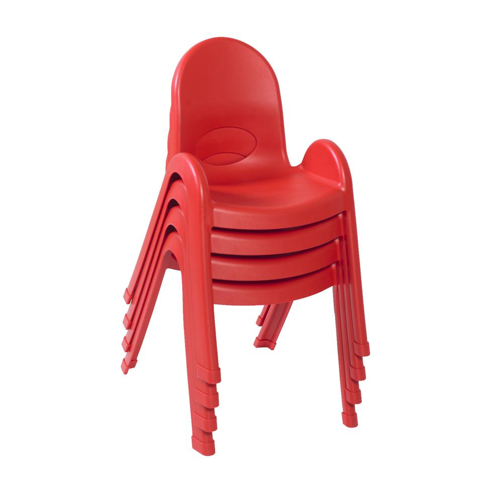 """Value Stack™ 13"""" Child Chair - Candy Apple Red. Picture 2"""