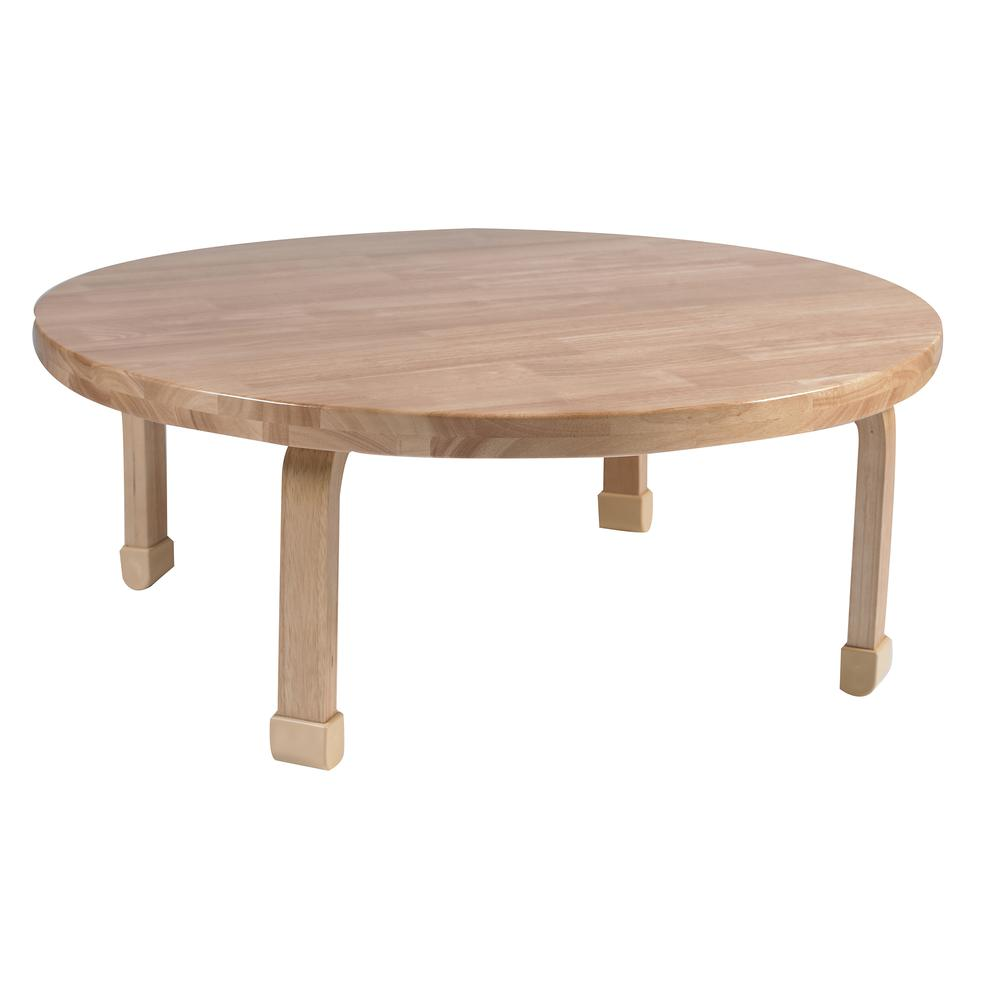 "36"" Diameter Round NaturalWood™ Table Top with 14"" Legs. Picture 1"