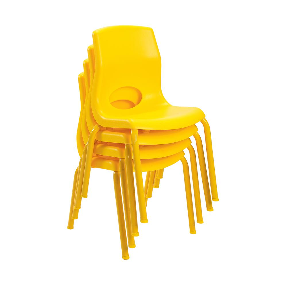 "MyPosture™ 12"" Child Chair - Yellow. Picture 2"
