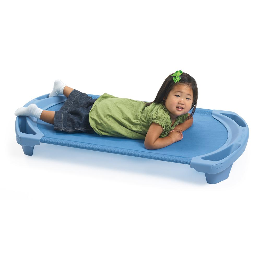SpaceLine® Toddler Single Cot - Wedgewood Blue. Picture 1