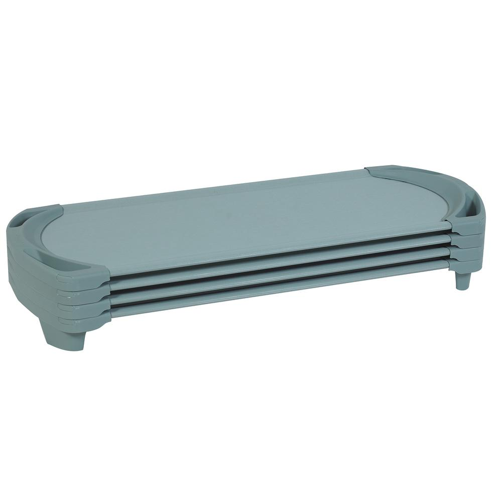 SpaceLine® Standard Cot - 4 Pack - Teal Green. Picture 1