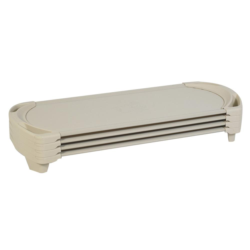 SpaceLine® Standard Cot - 4 Pack - Sand. Picture 1