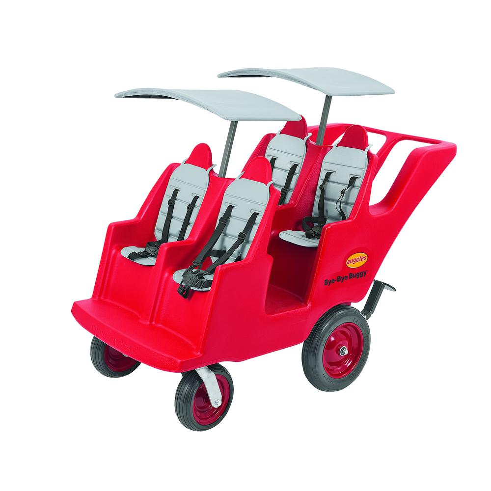 """4 Passenger Never Flat """"Fat Tire"""" Red/Grey Bye Bye Buggy®. Picture 11"""