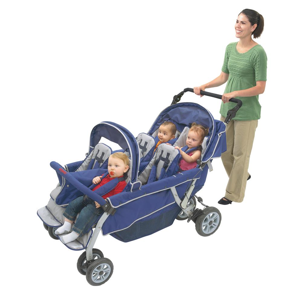 SureStop™ Folding Commercial Bye-Bye® Stroller 6 Passenger. Picture 2