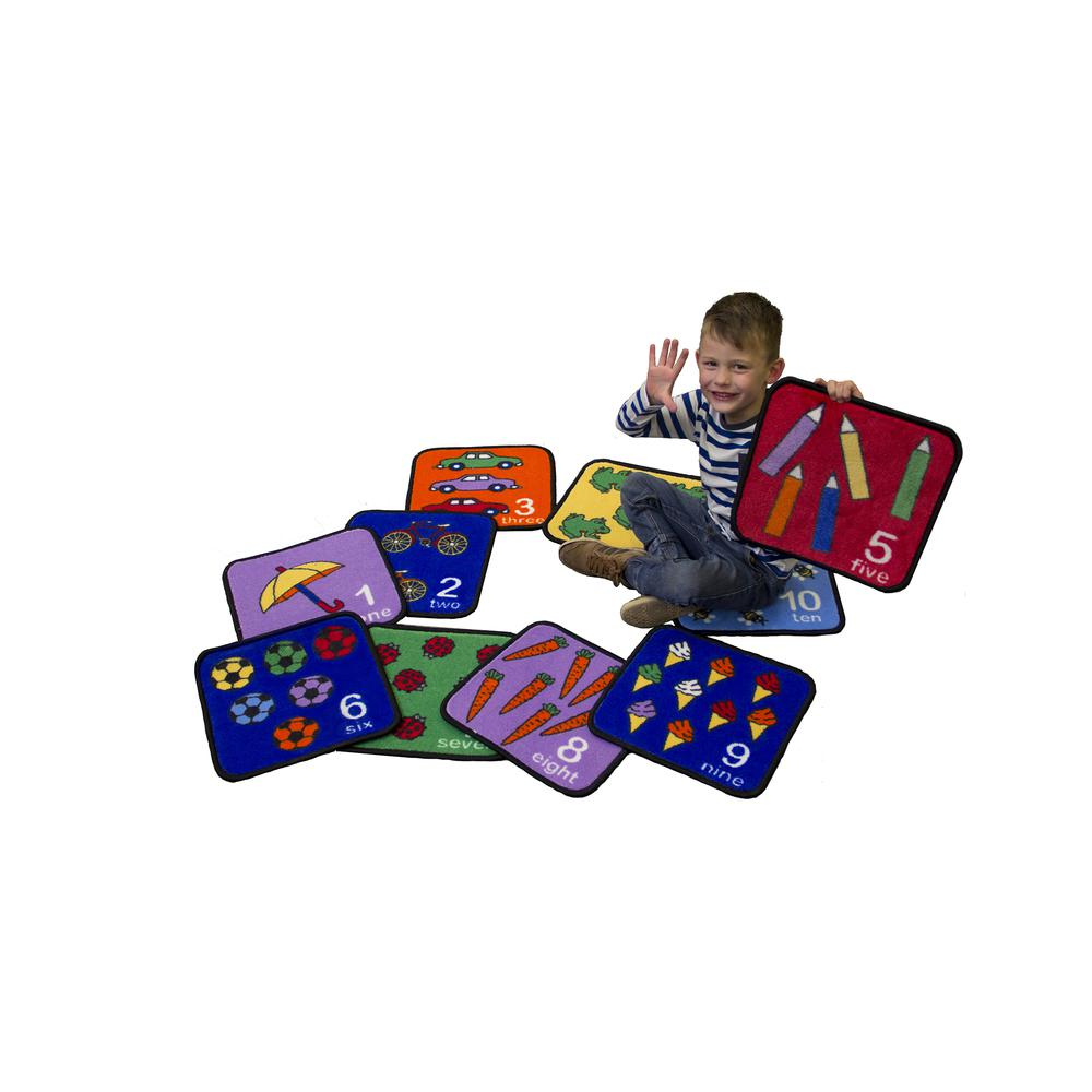 Let's Learn How to Count Seating Squares - Set of 10. Picture 1