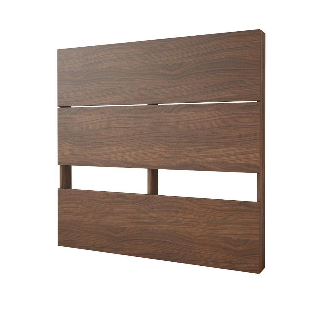 2 Piece Twin Size Bedroom Set, Walnut and Black. Picture 4