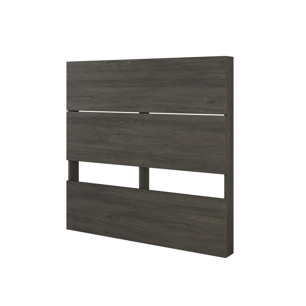 Atlas 3 Piece Twin Size Bedroom Set, Bark Grey and Black. Picture 3