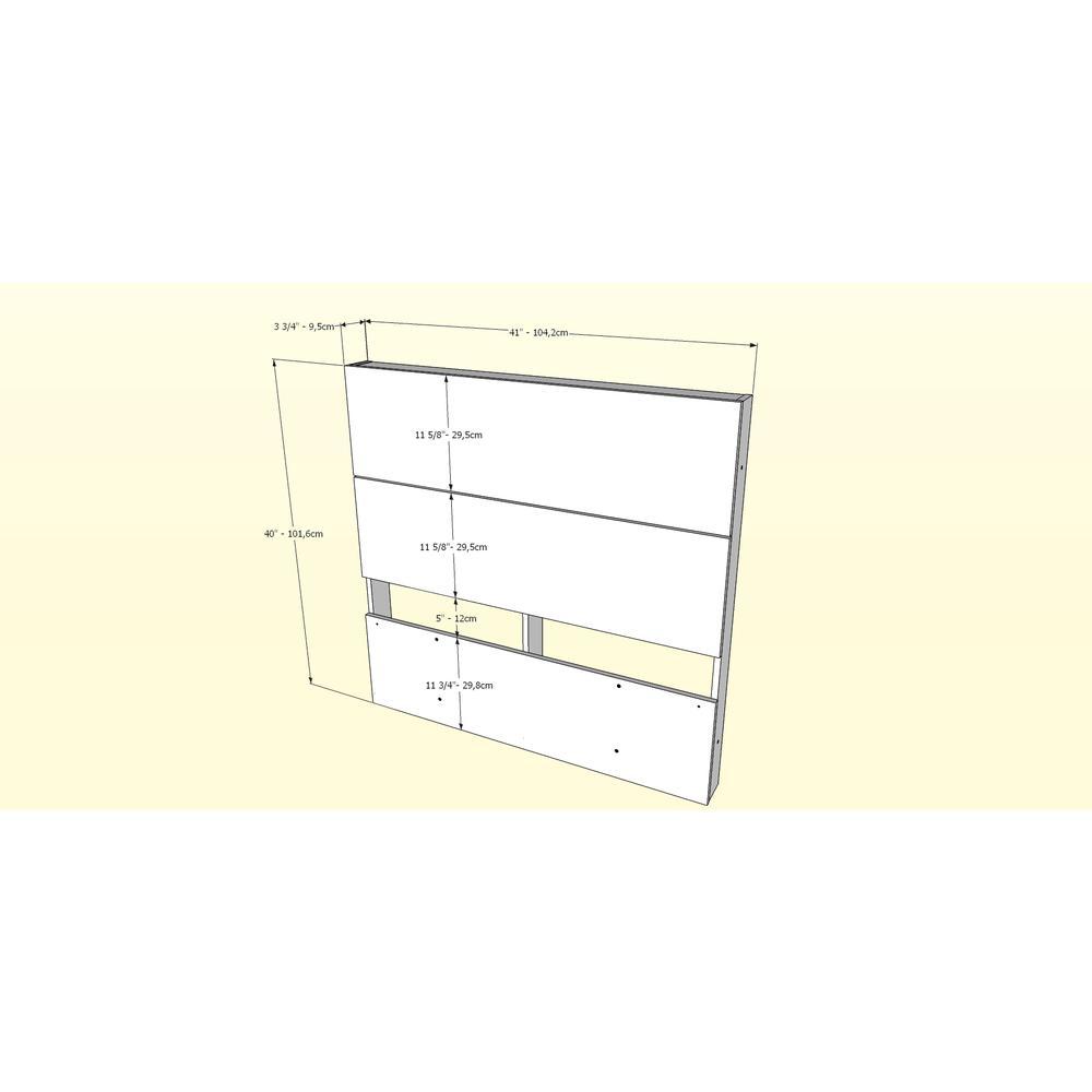 Graham 3 Piece Twin Size Bedroom Set, Walnut. Picture 5