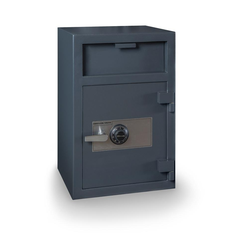 Depository Safe with inner locking department Gray. Picture 1