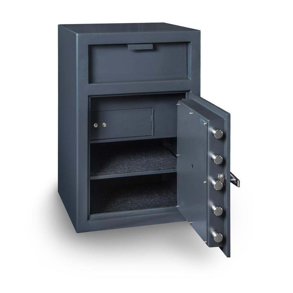 Depository Safe with inner locking department Gray. Picture 2