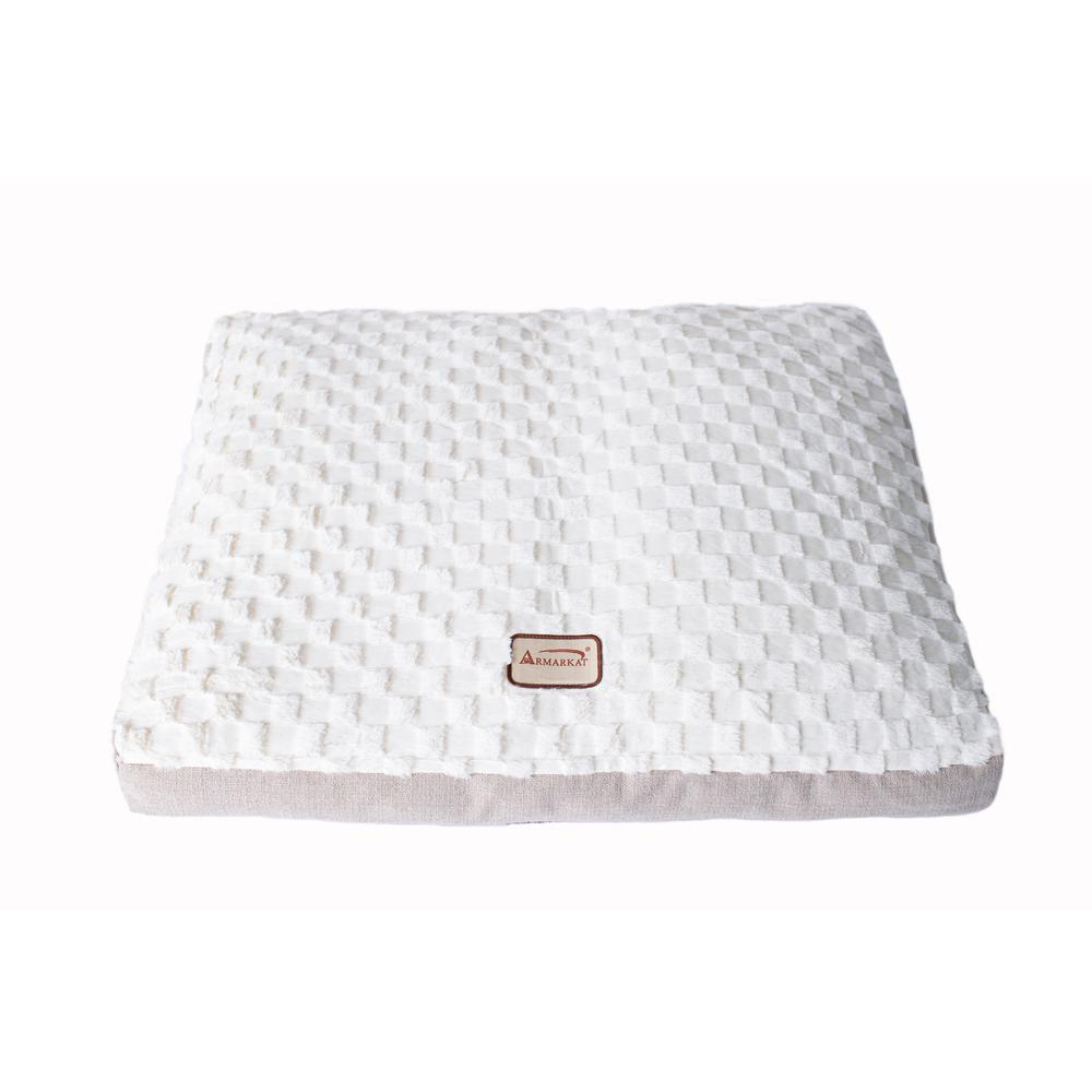 Armarkat Mat Model M12HMB/MB-L Large With Handle, Dog Crate Mat with Poly Fill Cushion & Removable Cover. Picture 5