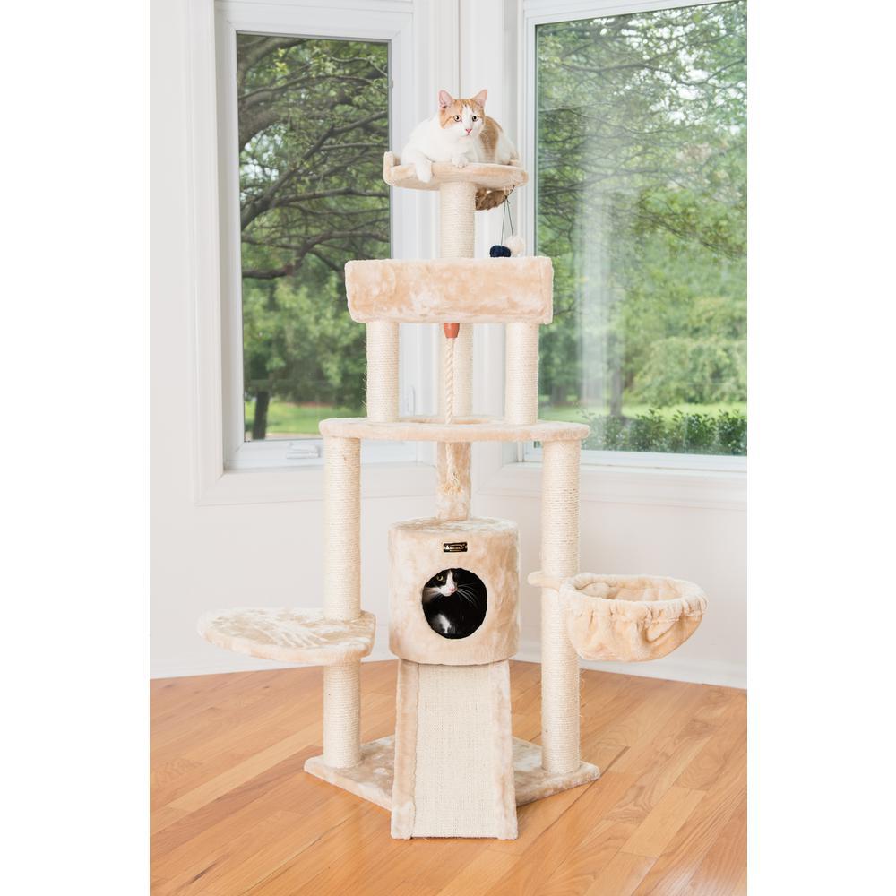 Armarkat Cat Tree Model A5806, Beige. Picture 1