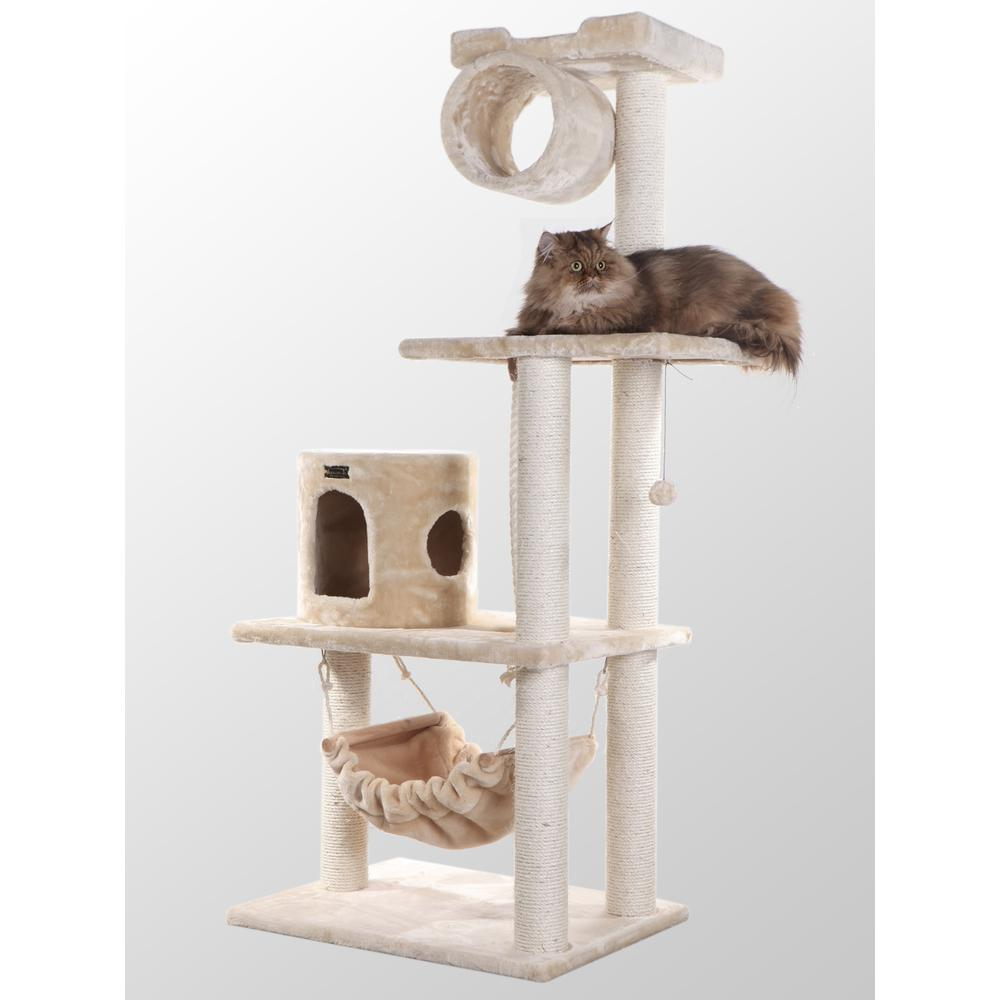 Armarkat Classic Cat Tree 62 inch A6202 Beige  Classic Model A6202. The main picture.