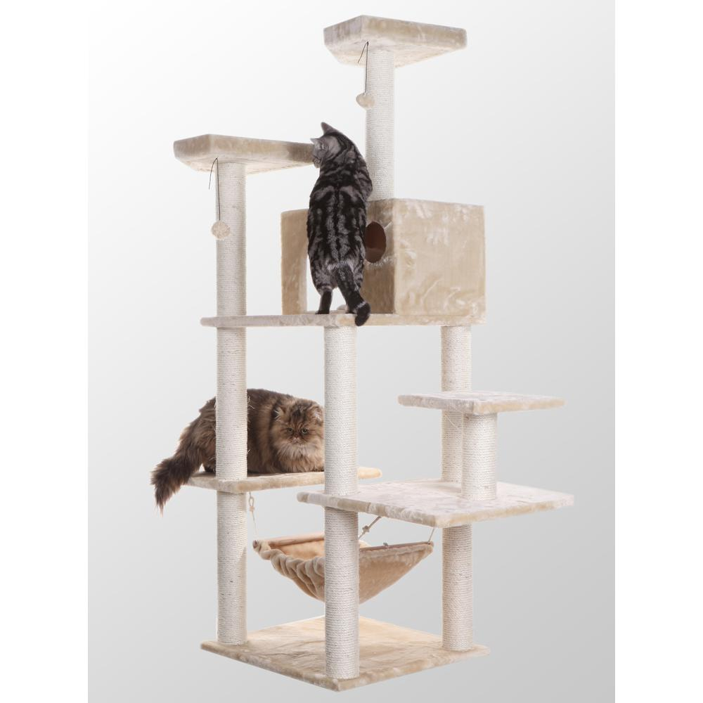 Armarkat Classic Model A7202 72-Inch Cat Tree, Beige