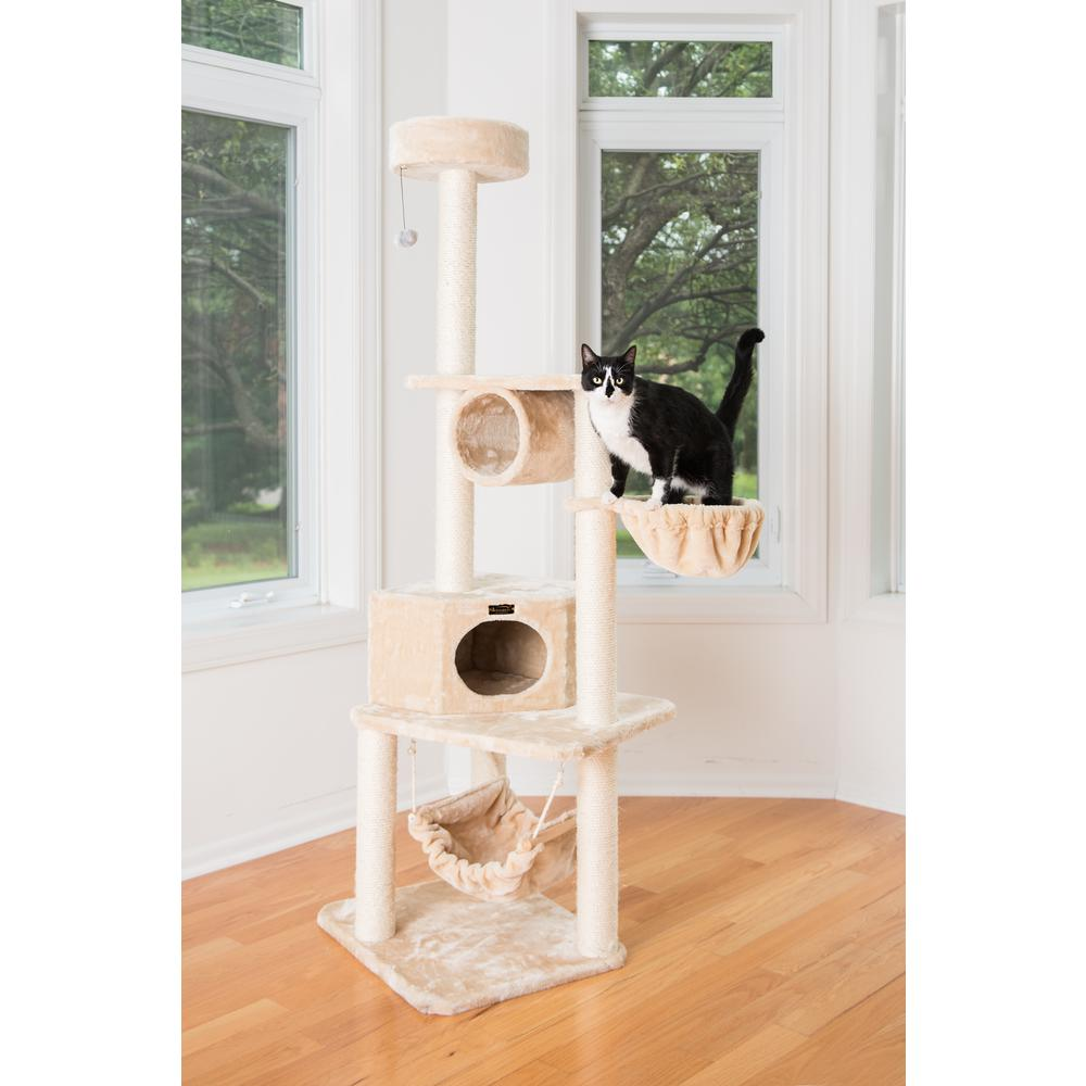 New Model A7204 Armarkat Classic Cat Tree with Four Play Features. Picture 1