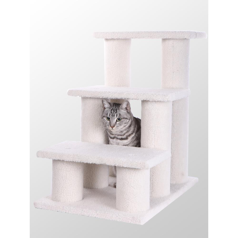 Armarkat Model B3001 Classic Pet Steps in Ivory, Jackson Galaxy Approved, Three Steps. Picture 1